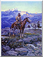 Charles Russell Free Trappers stretched canvas art