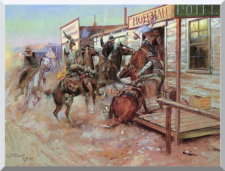 Charles Russell In Without Knocking stretched canvas art print