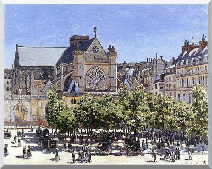 Claude Monet Saint Germain l'Auxerrois stretched canvas art print
