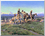 Charles Russell Men Of The Open Range Detail stretched canvas art