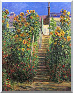 Claude Monet Steps At Vetheuil stretched canvas art