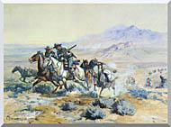 Charles Russell On The Attack stretched canvas art