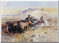Charles Russell Redmans Meat stretched canvas art