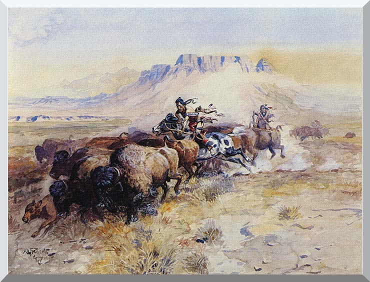 Charles Russell Redman's Meat stretched canvas art print