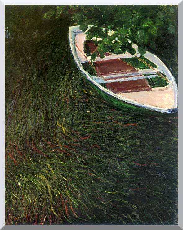 Claude Monet The Empty Boat stretched canvas art print