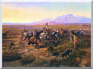 Charles Russell Returning To Camp stretched canvas art