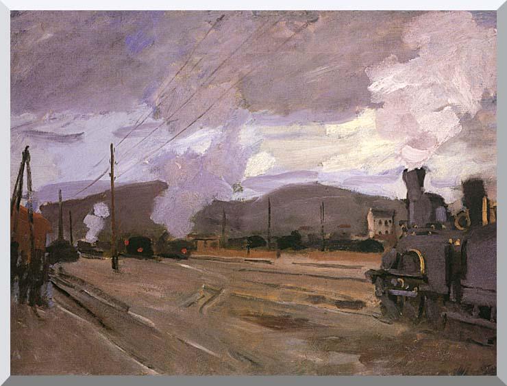 Claude Monet The Gare d'Argenteuil stretched canvas art print