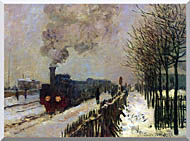 Claude Monet The Locomotive In Snow stretched canvas art