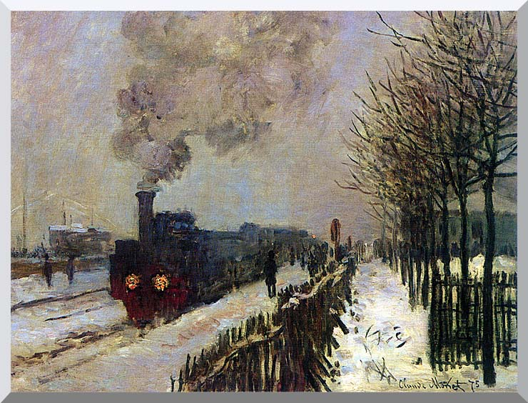 Claude Monet The Locomotive in Snow stretched canvas art print