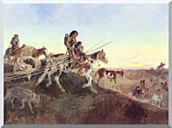 Charles Russell Seeking New Hunting Grounds stretched canvas art