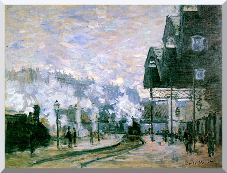 Claude Monet The Western Region Goods Sheds stretched canvas art print