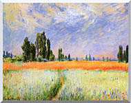 Claude Monet The Wheat Field stretched canvas art