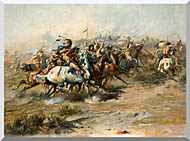 Charles Russell The Custer Fight stretched canvas art