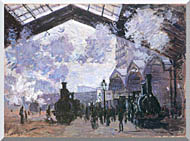 Claude Monet View Of The Normandy Train Line stretched canvas art
