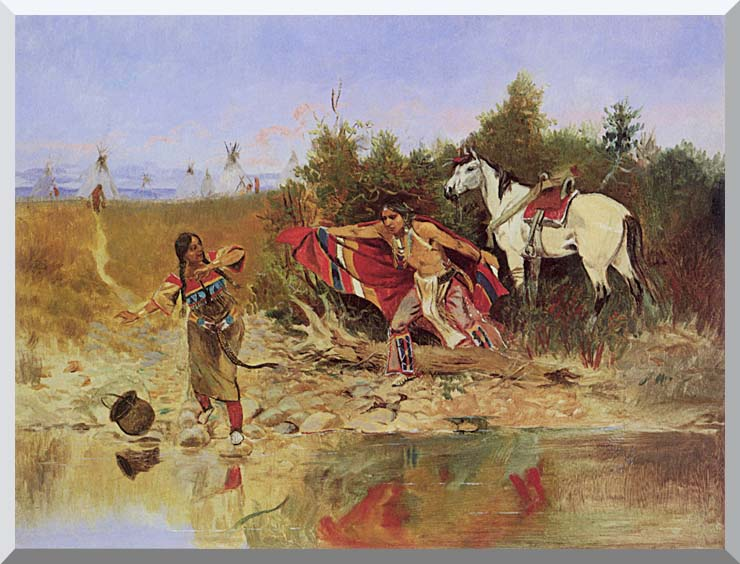Charles Russell The Marriage Ceremony stretched canvas art print