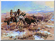 Charles Russell The Wounded Buffalo stretched canvas art