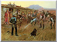 Charles Russell The Tenderfoot stretched canvas art