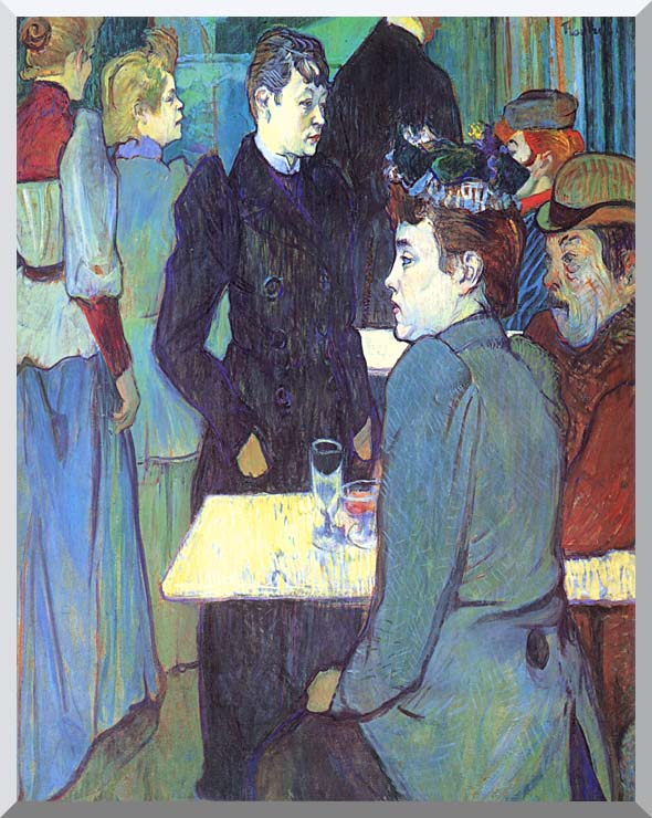 Henri de Toulouse Lautrec A Corner of the Moulin de la Galette stretched canvas art print