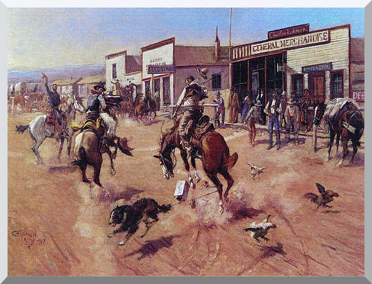 Charles Russell Utica stretched canvas art print