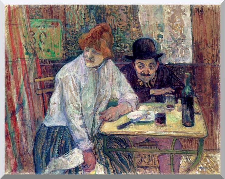 Henri de Toulouse Lautrec A La Mie stretched canvas art print