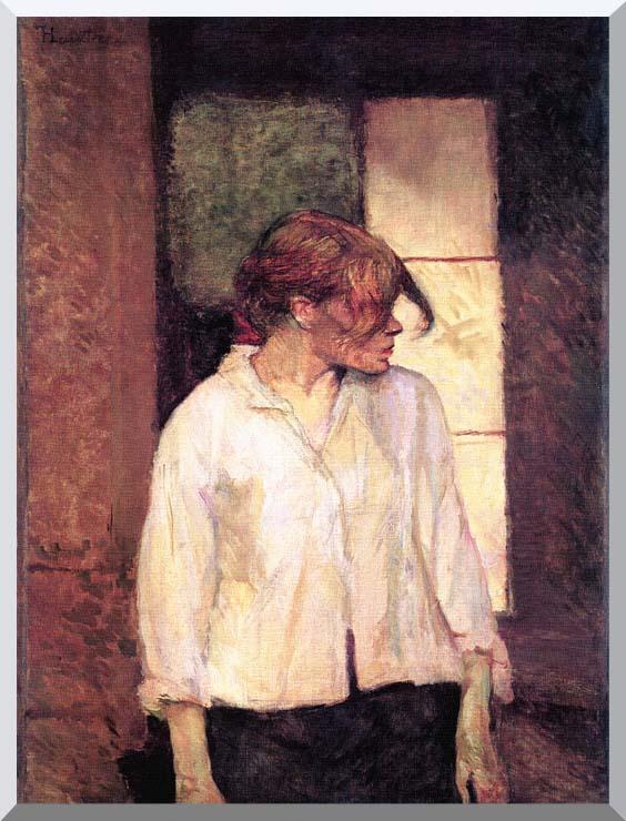 Henri de Toulouse Lautrec A Montrouge - Rosa La Rouge stretched canvas art print