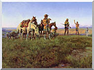 Charles Russell Wildmans Truce stretched canvas art