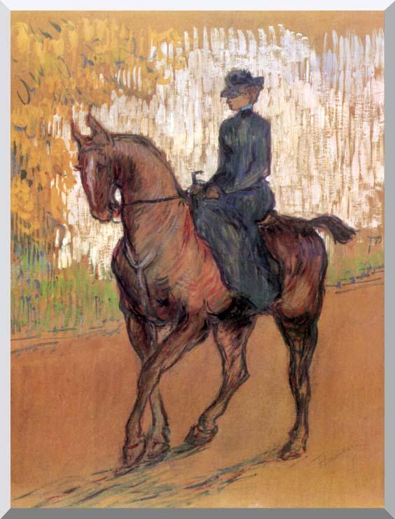 Henri de Toulouse Lautrec Amazone stretched canvas art print