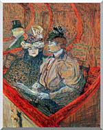 Henri De Toulouse Lautrec La Grande Loge stretched canvas art
