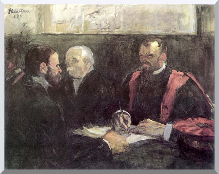 Henri de Toulouse Lautrec An Examination at the Faculty of Medicine, Paris stretched canvas art print