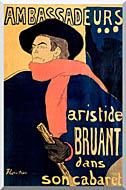 Henri De Toulouse Lautrec Les Ambassadeurs Aristide Bruant stretched canvas art