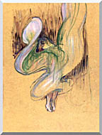 Henri De Toulouse Lautrec Loie Fuller stretched canvas art