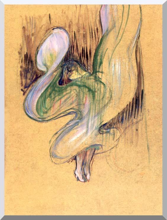 Henri de Toulouse Lautrec Loie Fuller stretched canvas art print