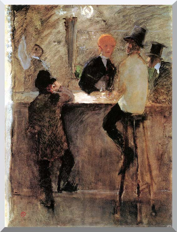 Henri de Toulouse Lautrec At the Bar stretched canvas art print