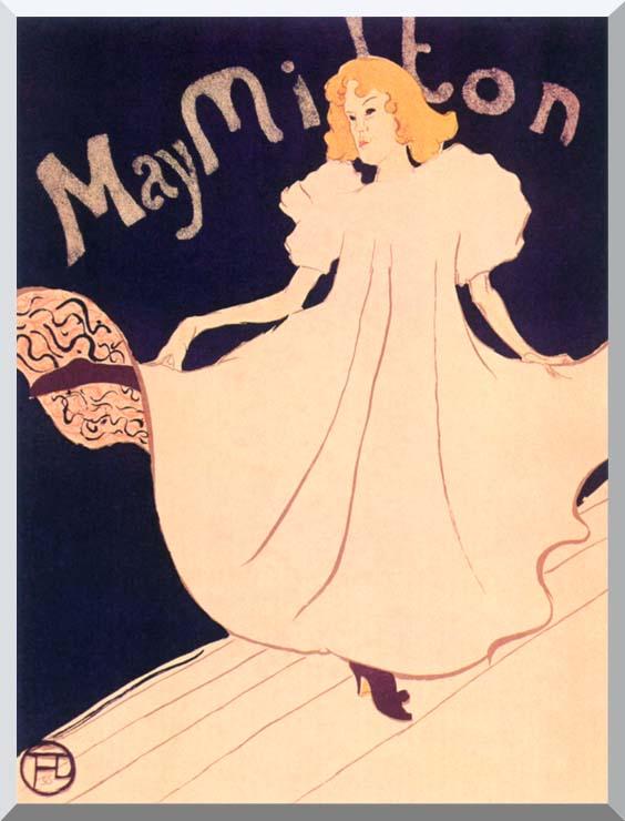 Henri de Toulouse Lautrec May Milton stretched canvas art print