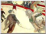 Henri De Toulouse Lautrec At The Cirque Fernando The Ringmaster stretched canvas art