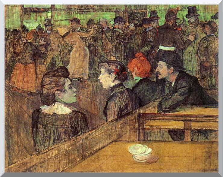 Henri de Toulouse Lautrec The Moulin de la Galette stretched canvas art print