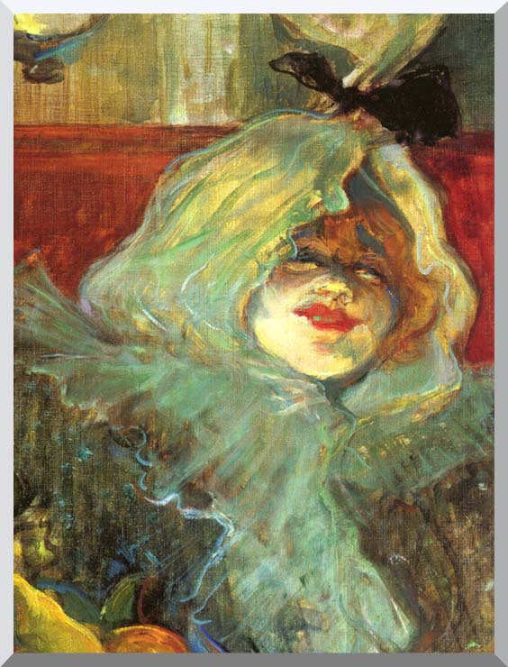 Henri de Toulouse Lautrec At the Rat Mort Detail stretched canvas art print