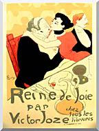 Henri De Toulouse Lautrec Reine De Joie Par Victor Joze stretched canvas art