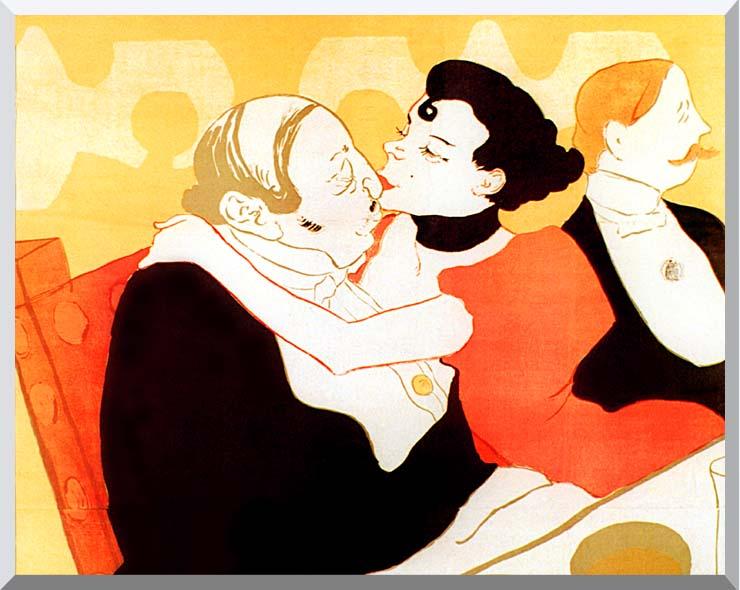 Henri de Toulouse Lautrec Reine de Joie par Victor Joze (detail) stretched canvas art print