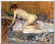 Henri De Toulouse Lautrec Crouching Woman With Red Hair stretched canvas art
