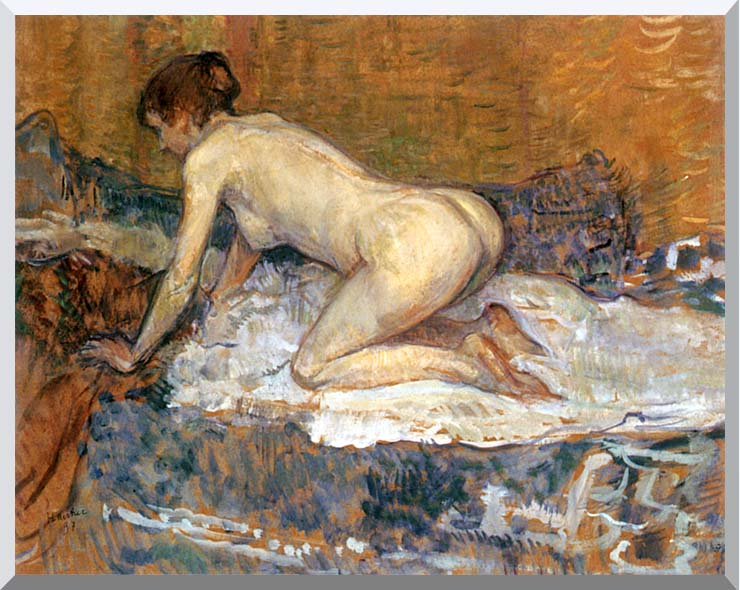 Henri de Toulouse Lautrec Crouching Woman with Red Hair stretched canvas art print
