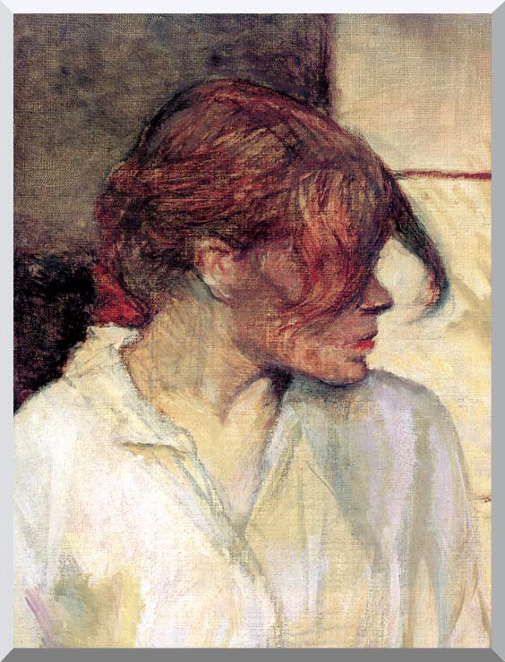 Henri de Toulouse Lautrec Rosa la Rouge (detail) stretched canvas art print