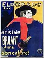 Henri De Toulouse Lautrec Eldorado Aristide Bruant stretched canvas art