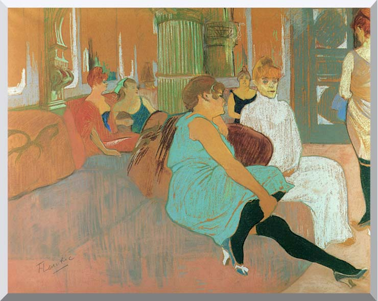 Henri de Toulouse Lautrec In the Salon of the Rue des Moulins stretched canvas art print