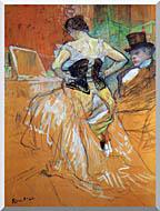 Henri De Toulouse Lautrec Study For Elles Woman In A Corset stretched canvas art
