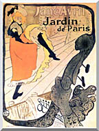 Henri De Toulouse Lautrec Jane Avril Dancing stretched canvas art