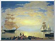 Fitz Hugh Lane Gloucester Harbor At Sunrise stretched canvas art
