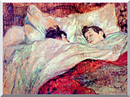 Henri De Toulouse Lautrec The Bed Le Lit stretched canvas art