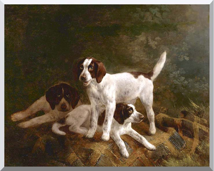 Henriette Ronner Knip Play Time for Puppies stretched canvas art print