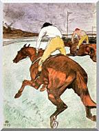 Henri De Toulouse Lautrec The Jockey stretched canvas art